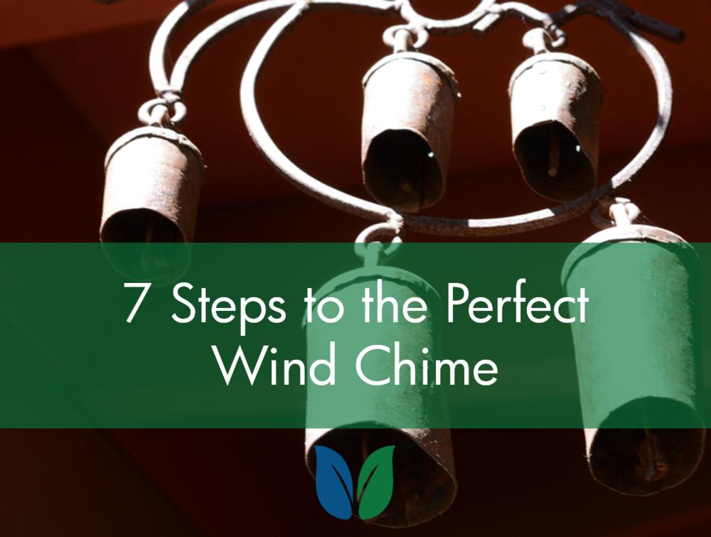 Five metal bells in a wind chime