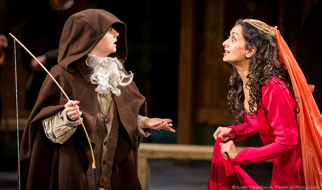 Nandita (R) in the opening scene of MARIAN, OR THE TRUE TALE OF ROBIN HOOD, New Ohio Theatre, NYC