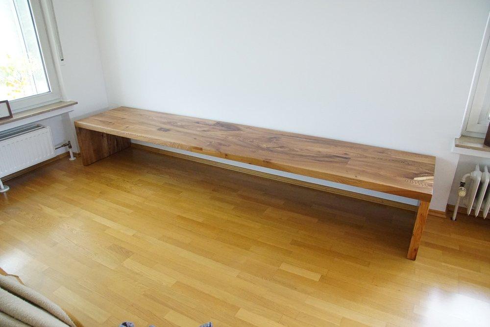 Joseph XXL 300 x 60 cm aus Rüster / Ulmenholz 1200 Euro