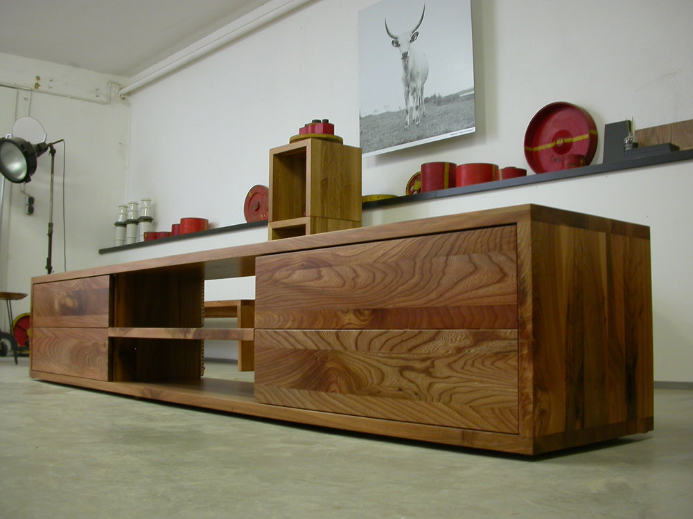 Flatboard aus schönem Rüster, Ulmenholz - Unter Wohnen.