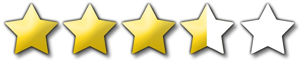Image result for star rating images 3.5