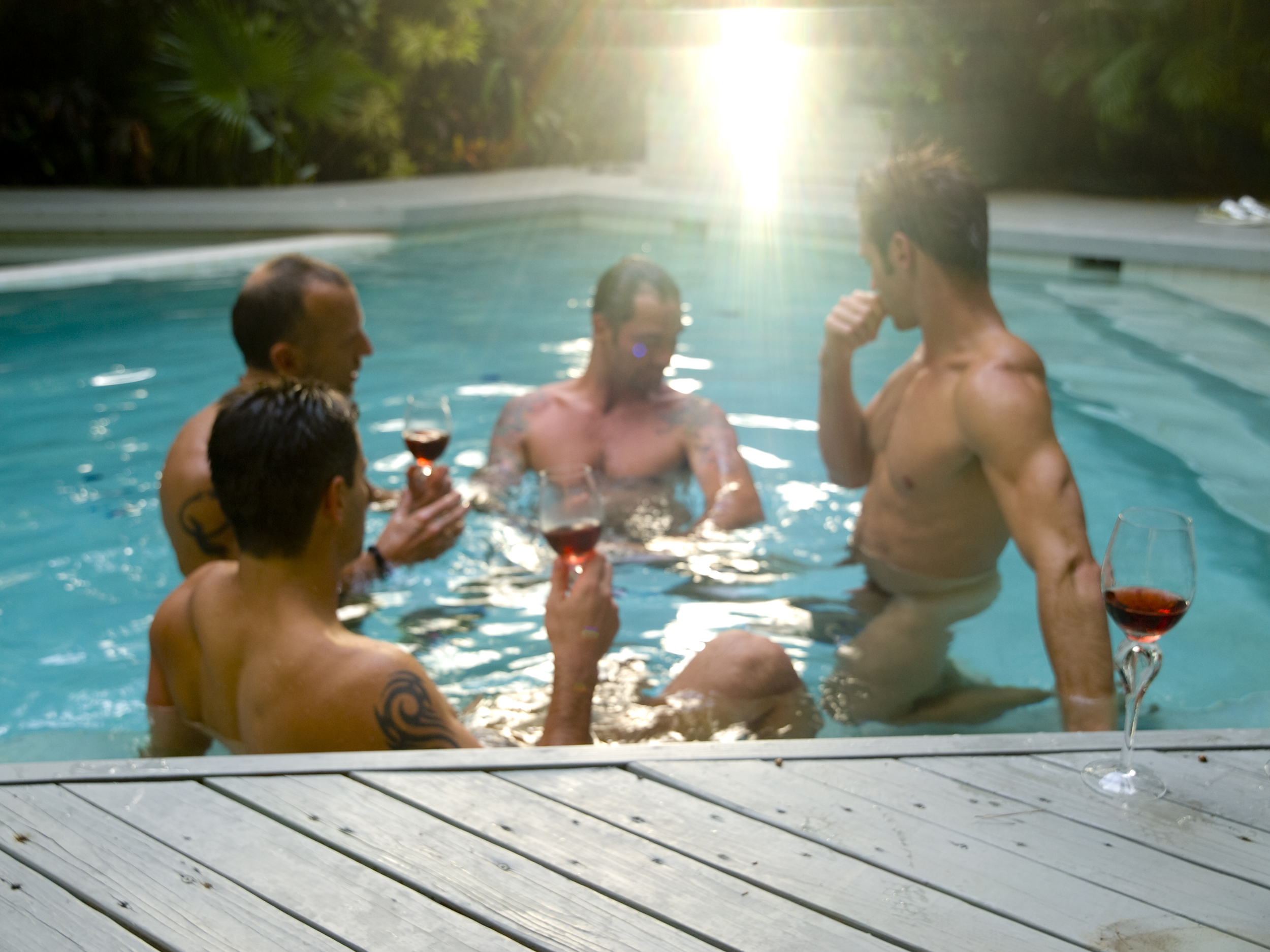 guys in a pool