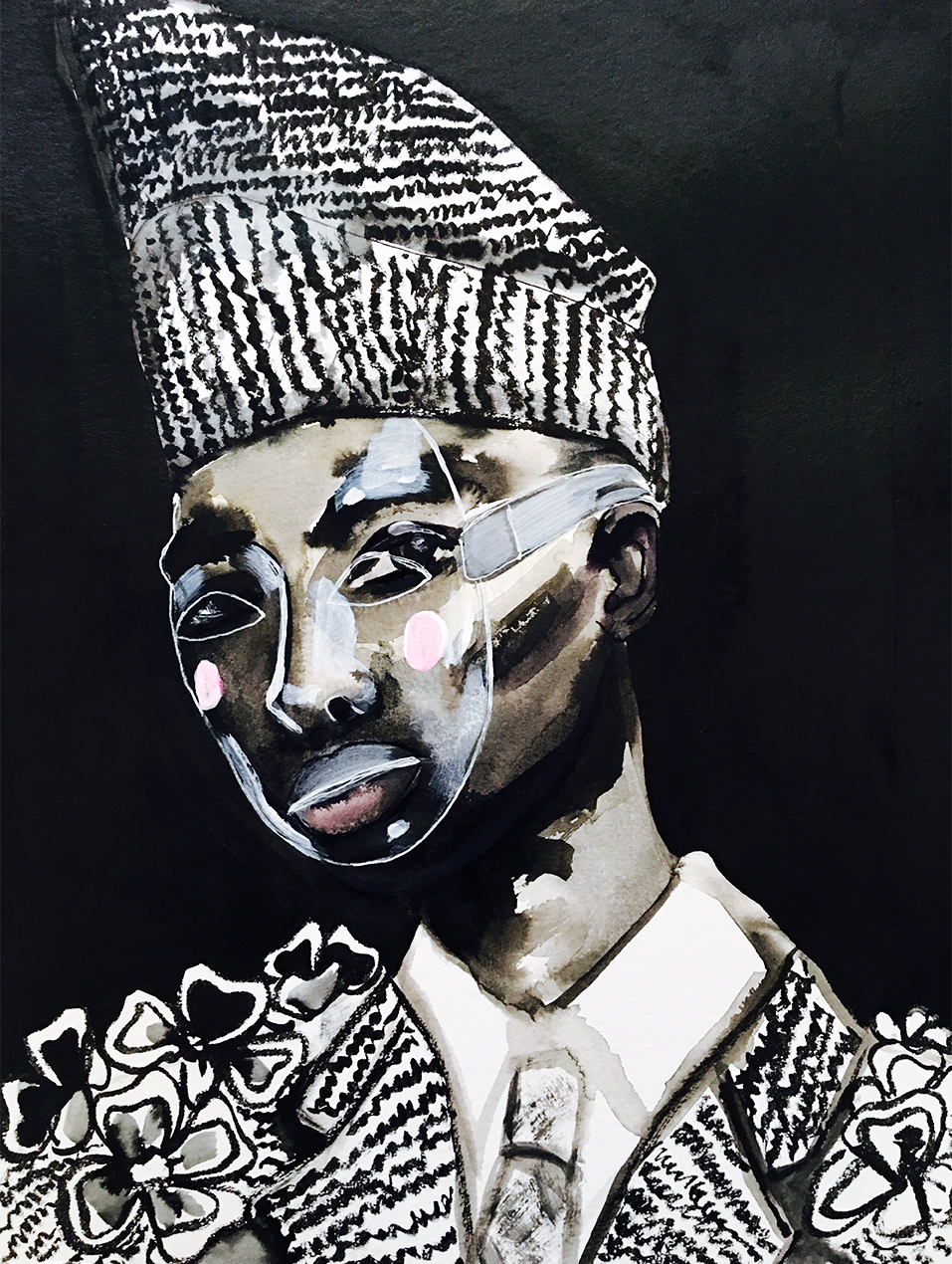 Portrait inspired by Thom Browne