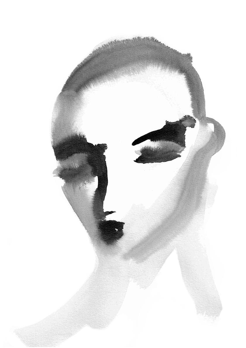 Watercolour man