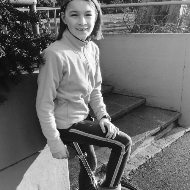 Gabriela Friel , a 11 year old inspiring others through her love of unicycling