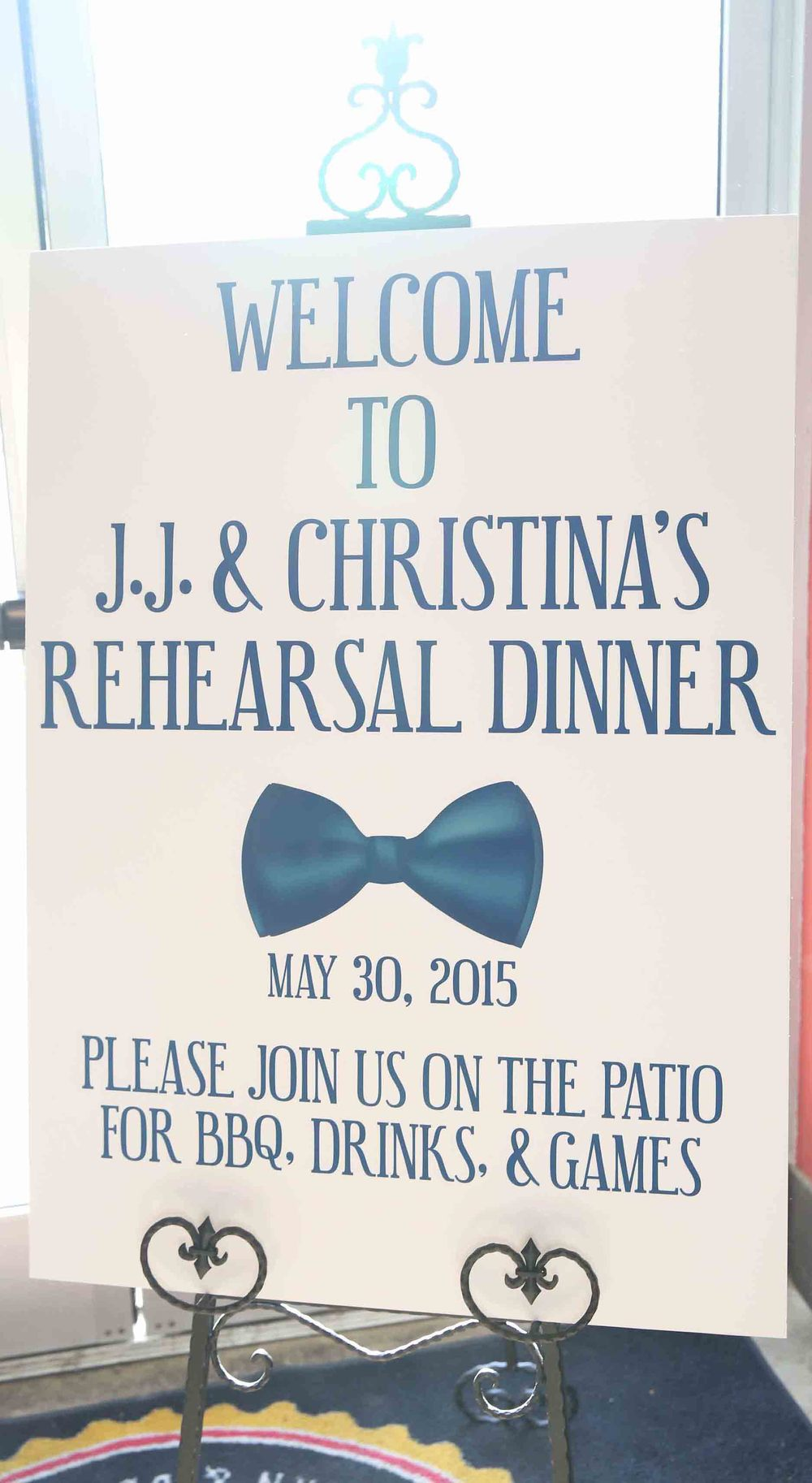 Event Sign (Rehearsal Dinner)