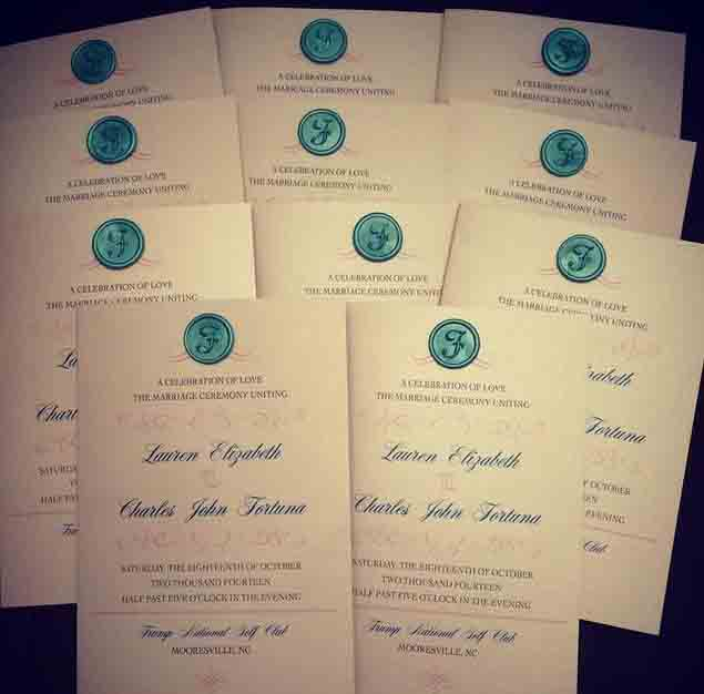 Wedding Program with Wax Seal