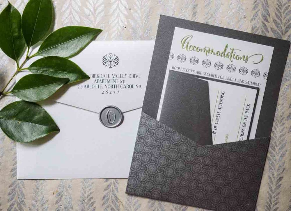 A Charleston Inspired Invitation Suite