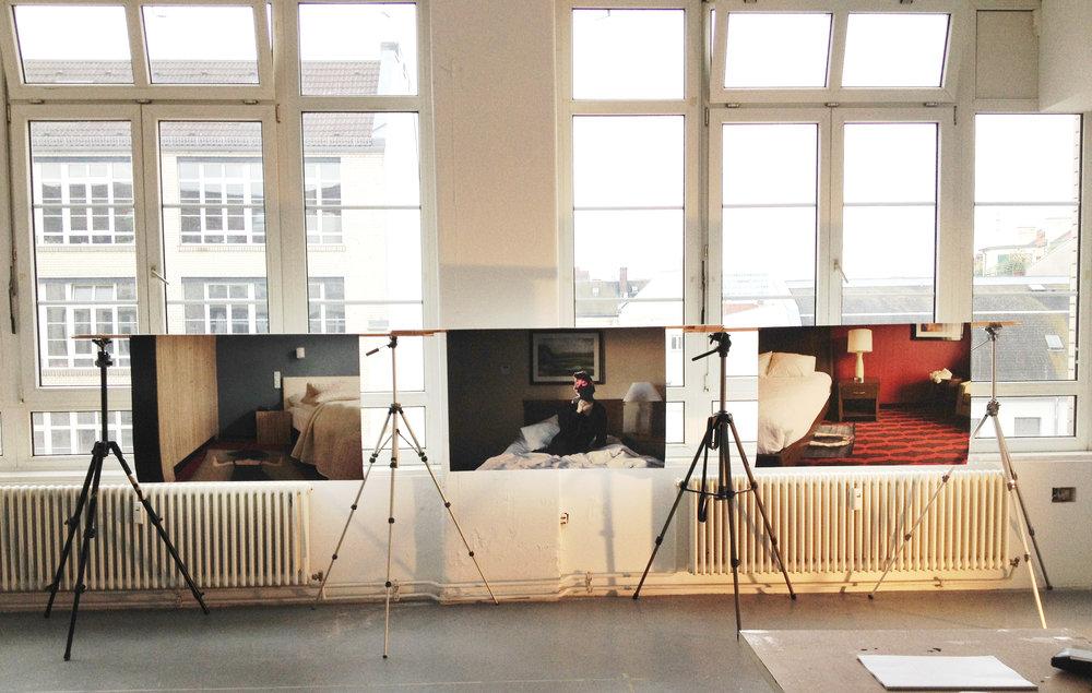 Installation view, 2014,  33rd Lange Nacht der Museen  , Gerichtshöfen, Berlin, DE