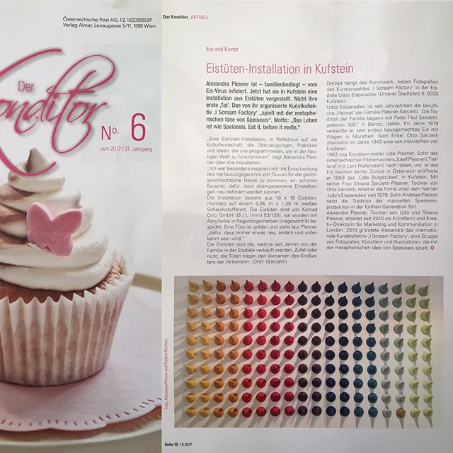 Feature in Austrias Nr 1 trade magazine for confectionery 🍰🍦🍧🍨🍭💕 #iscreamfactory #alexandraplesner