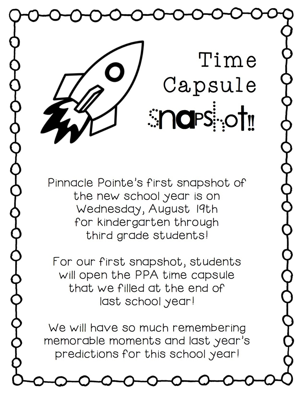 Time capsule writing activity third