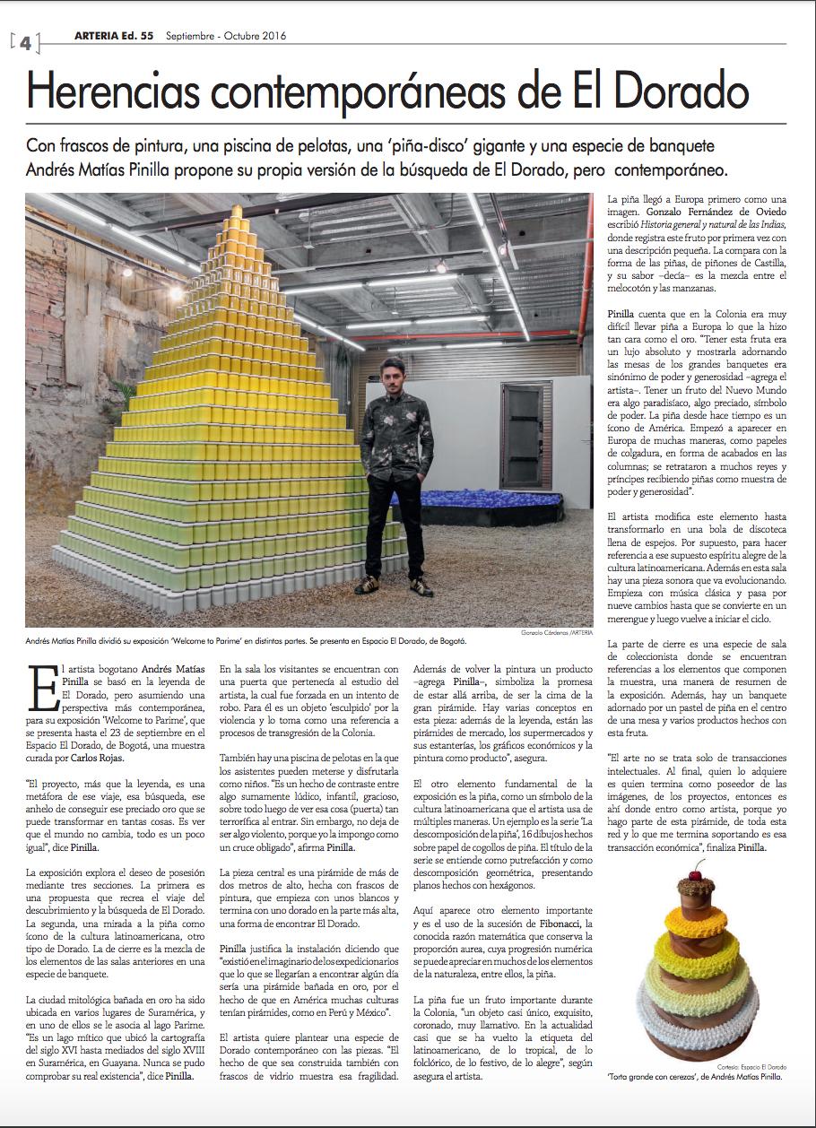 Herencias contemporaneas de El Dorado, Periodico Arteria.jpg