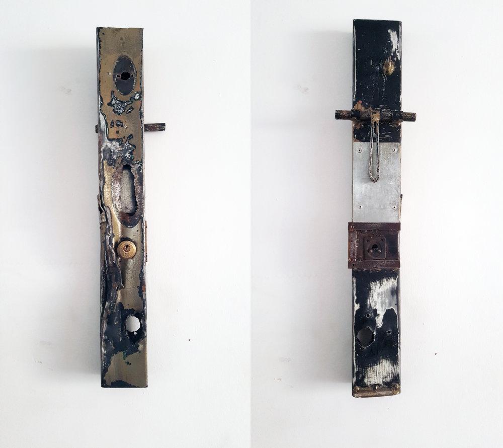 Fragmento recuperado de puerta vulnerada en un intento de robo,  Welcome to Parime