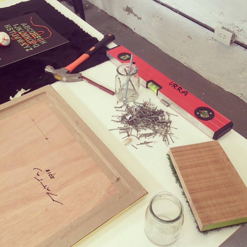 Proceso cosnstructivo de obras durante la residencia URRA Tigre,  Conceptual & Paranormal