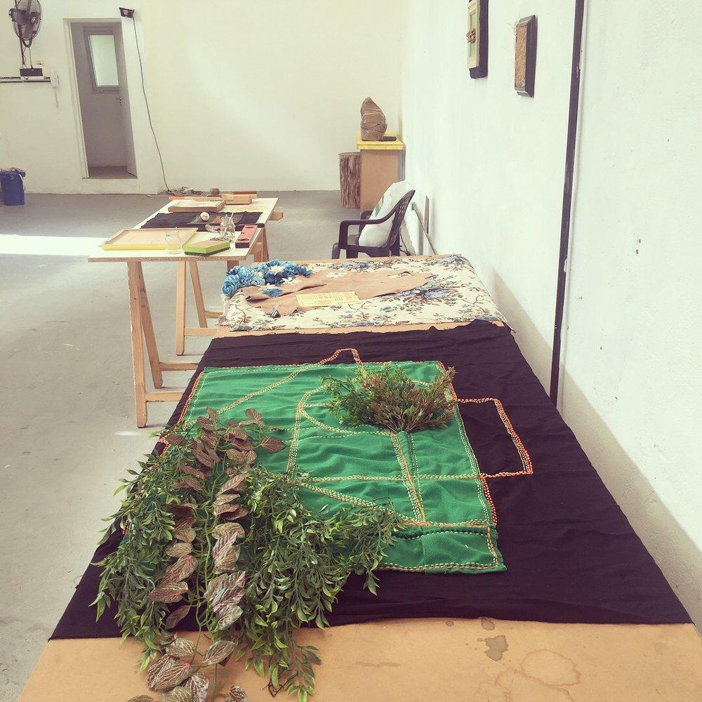Proceso constructivo de obras durante la residencia URRA Tigre,  Conceptual & Paranormal