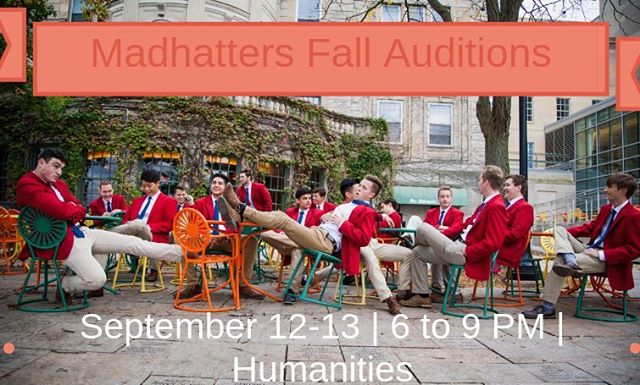 Auditions are 3 days away! Trade in that hoodie for a red jacket on 9/12-13 from 6 to 9 PM at Humanities. Signup link is in the bio and walk ins are welcome!