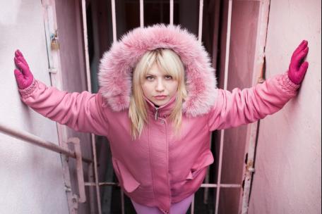 "Luisa in Pink, Aviva Klein    Metallic c-print, 11""x14"""