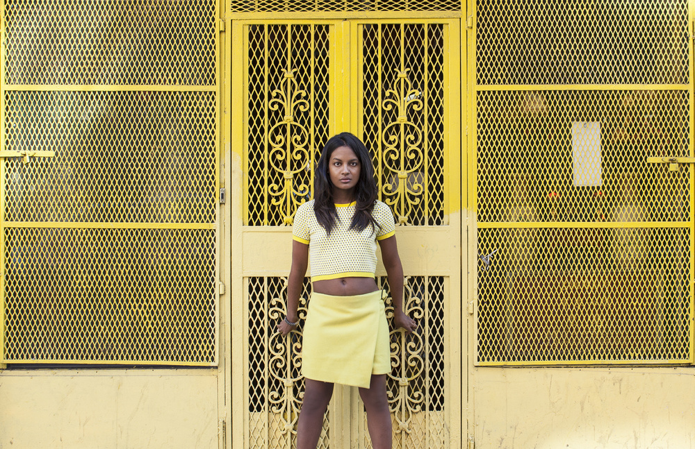 "Amaris in Yellow,  Aviva Klein    Metallic c-print, 11""x14"""