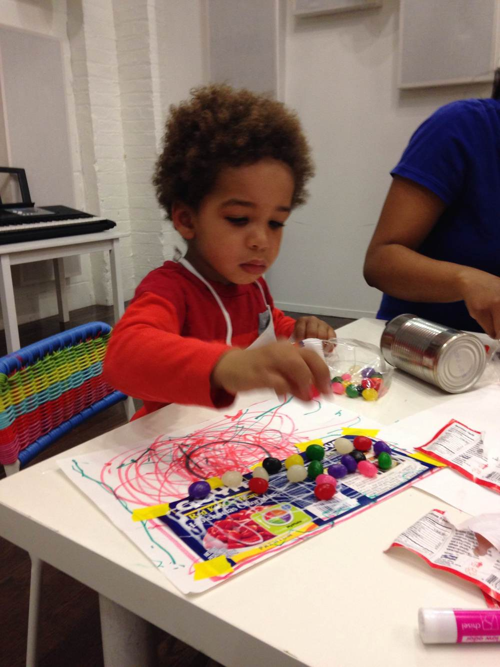 Artist, Dante working @ PLAY Greenpoint