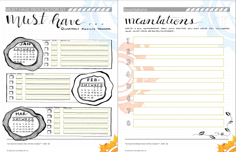 Goals by the quarter incantations creative organic goal setting journal.png