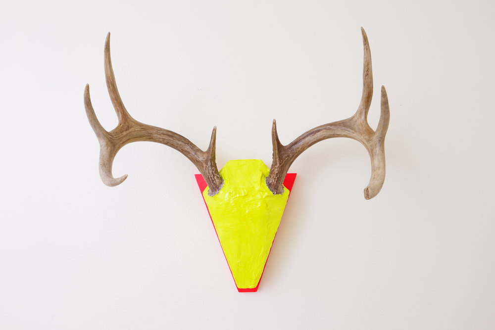 UNTITLED    2017    deer antlers, plaster, wood, acrylic, urethane    14 x 17 x 10 inches    commissioned
