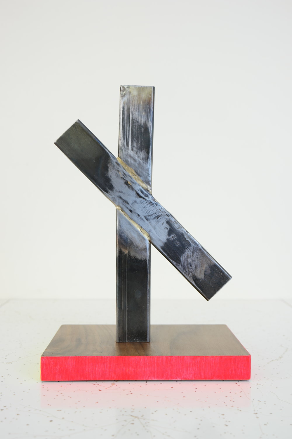 INTERSECT NO.1    2014/2018    steel, brass, walnut, acrylic    9.75 x 7 x 4 inches    see store tab for price