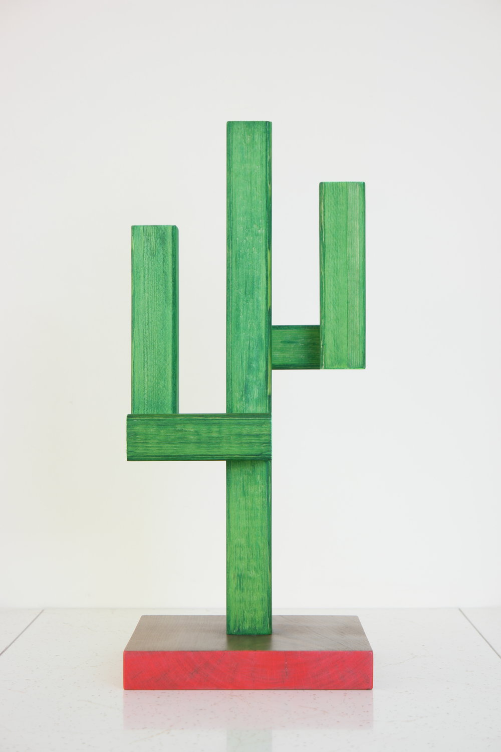 Cactus No.1   2018    wood, dye, acrylic, lacquer    7.5 x 7.5 x 17.75 inches    see store tab for price