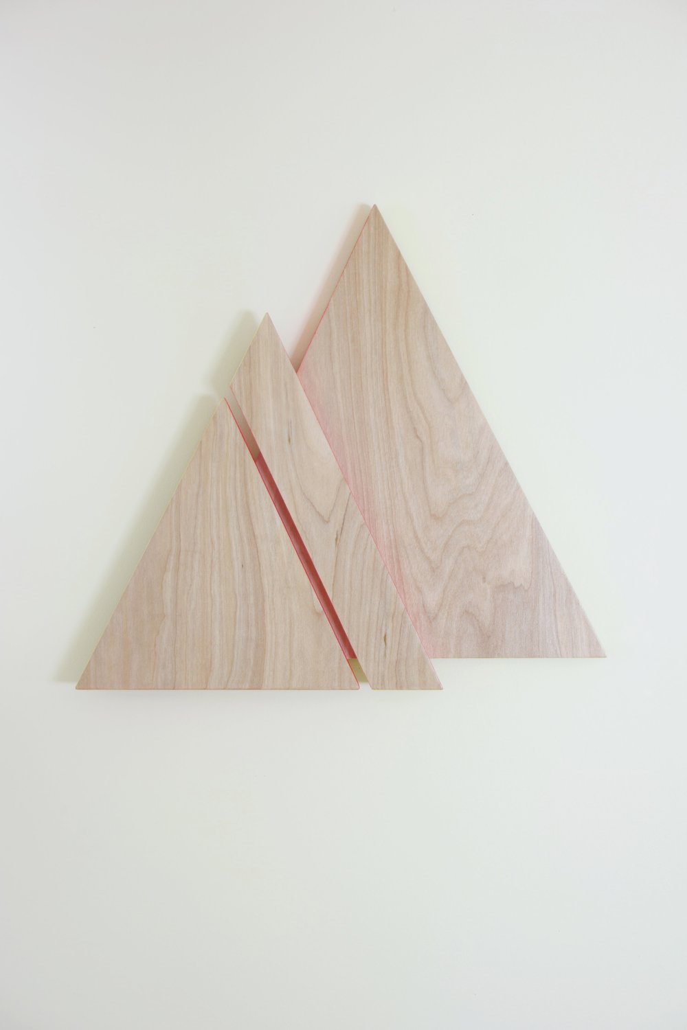 MTN PEAKS   2018    wood, acrylic paint, urethane    19 x 1.5 x 17.5 inches    see store tab for price