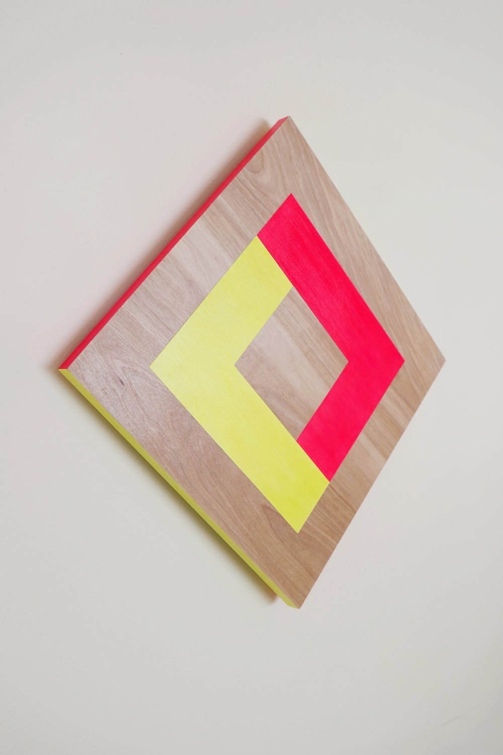 Tilted Square   2018    wood, acrylic paint, urethane    22.5 x 1.25 x 22.5 inches    see store tab for price