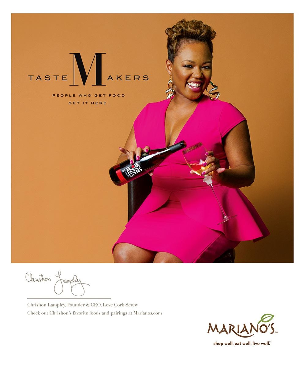 Chrishon Lampley, shot for a Mariano's print campaign
