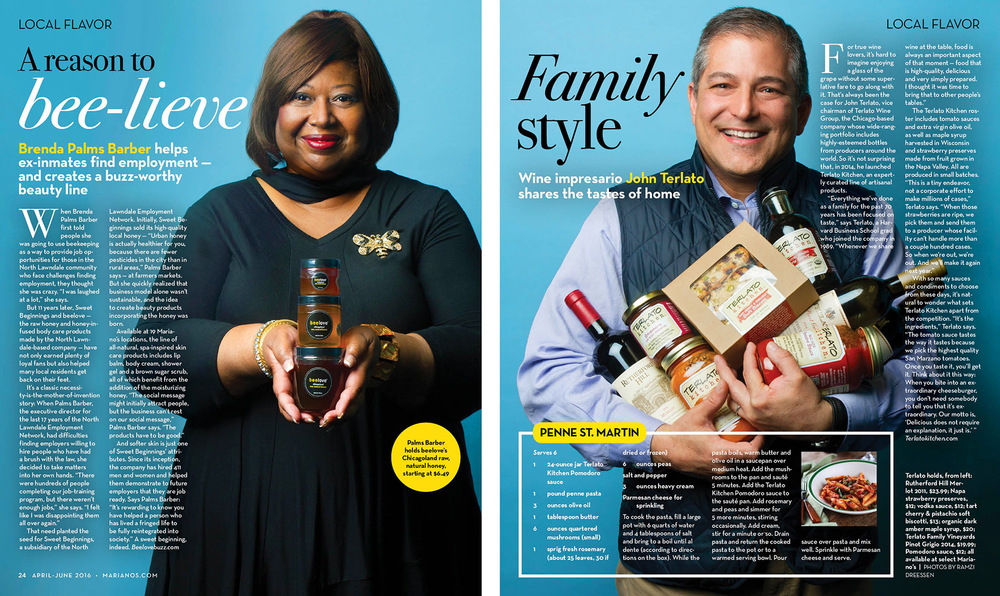 A Local Flavor feature, shot for Mariano's Magazine