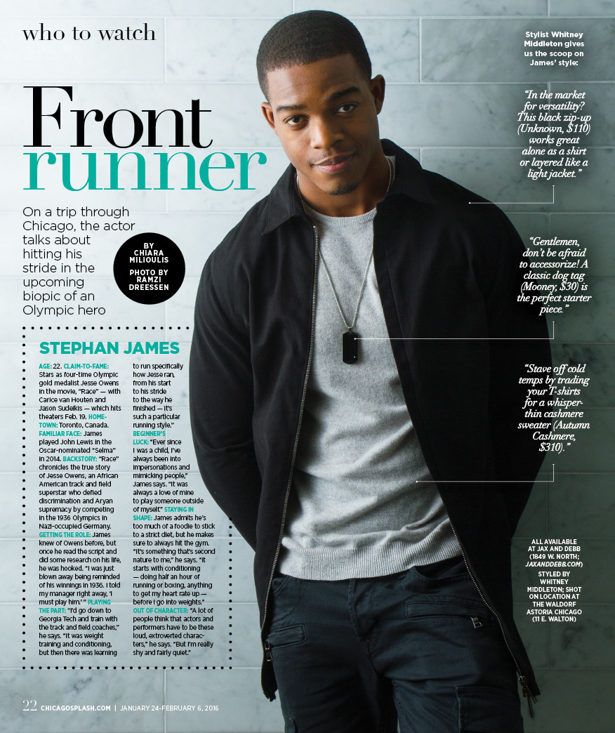 Actor Stephan James