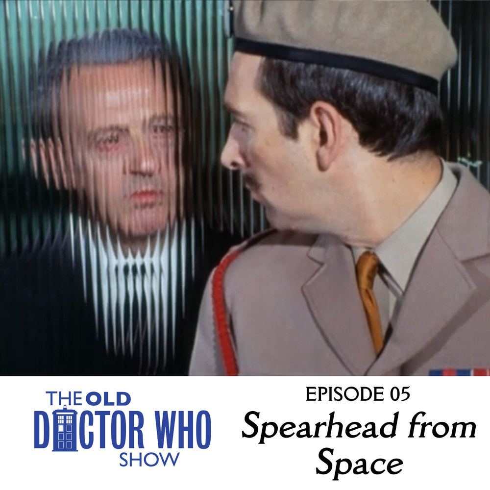 "Dan and Eric talk about mannequins and this time it has nothing to do with Andrew McCarthy.  Here's our review of the first Jon Pertwee story, ""Spearhead from Space."""