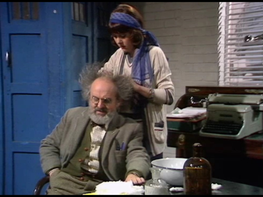 And here's Professor Kettlewell getting checked for space lice.