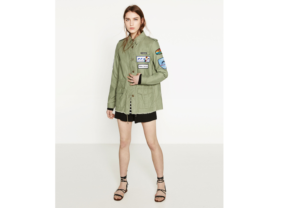 39,95€ - Parka Parches ZARA