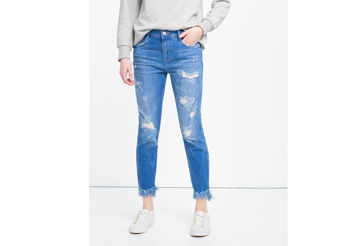 29,95€ - Pantalon Denim Flecos ZARA