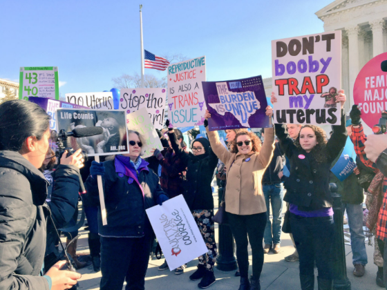 Activists on both sides of the abortion debate rallied in front of the Supreme Court while oral arguments in  Whole Women's Health v. Hellerstedt  were being heard. (March 2, 2016)