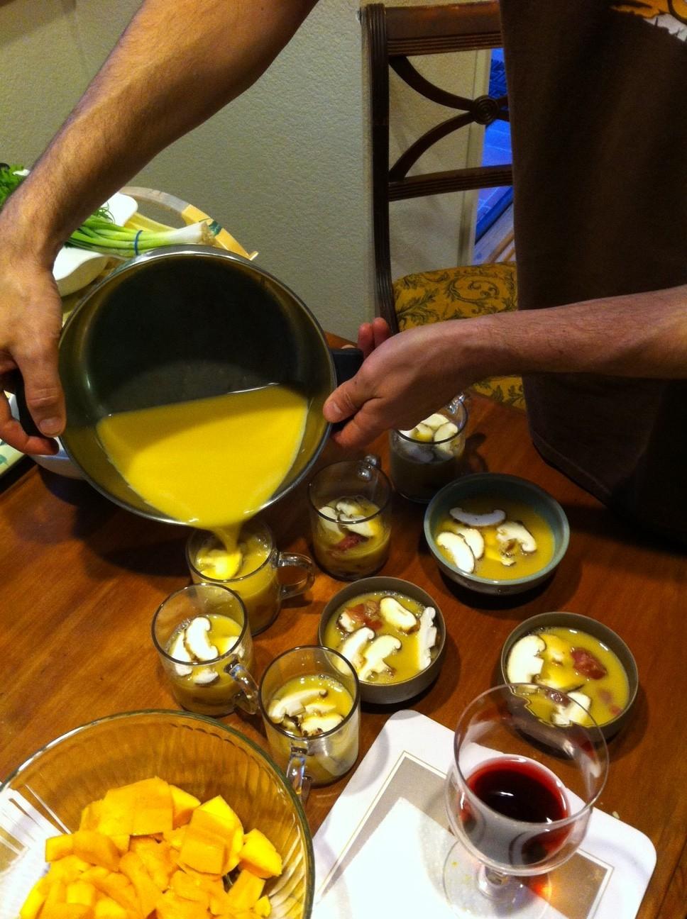We then used the dashi to make chawanmushi!