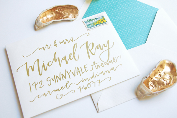 Lettered Life Envelope Wedding Calligraphy - Gold 5.jpg