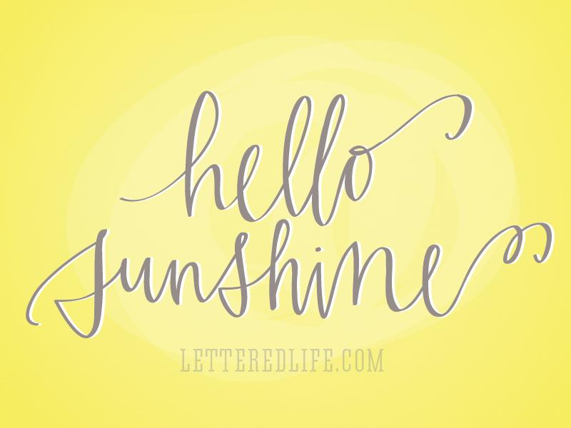 hello sunshine  and may goals   Hello Sunshine Quotes