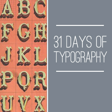 31-days-of-typography