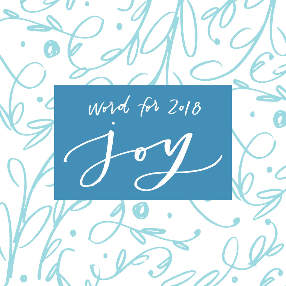 2018 goal setting - word for 2018 - JOY - Lettered Life