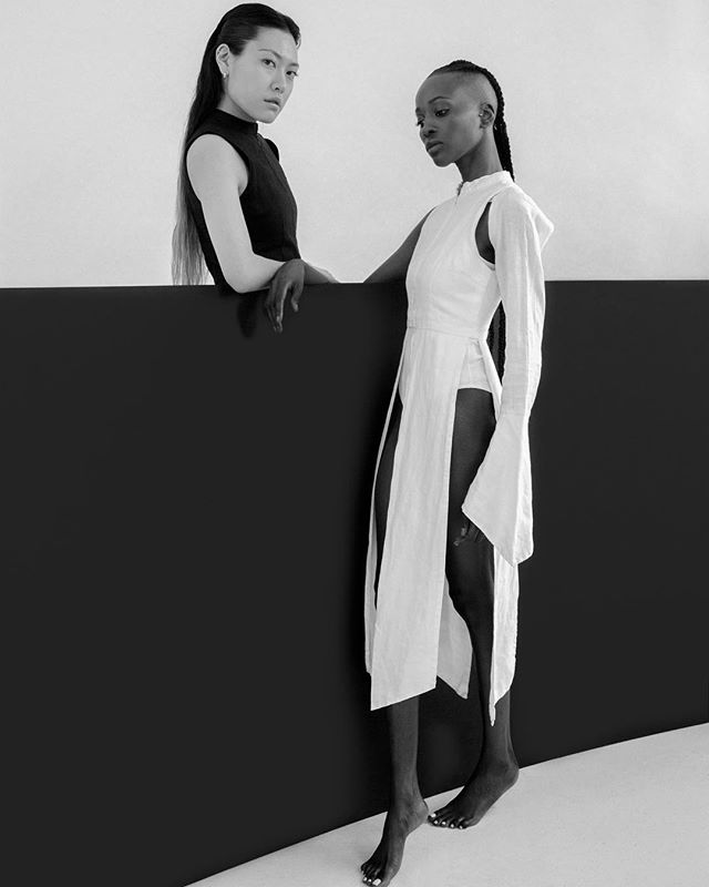 Still here, still working. || Exploring lines & angles. A project I did before leaving for Paris. Shot at @dapper.studios Captured by @amandlabaraka Muses: @soleitak & @mushbone  wearing @elleest_