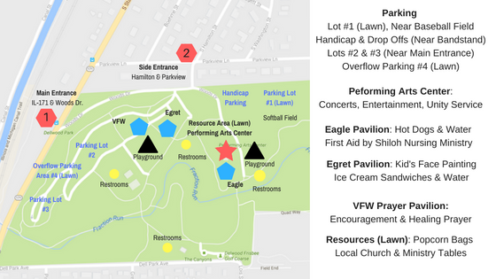 Event Map & Info - September 18th - Dellwood Park Block Party