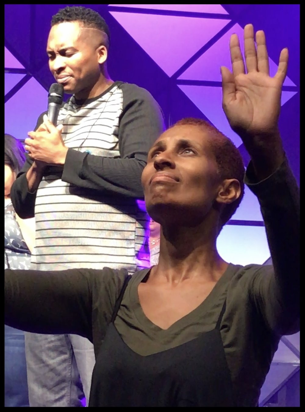 Felicity dancing with Karitos' Christian Arts Association @ one of their unity worship nights in Chicago.