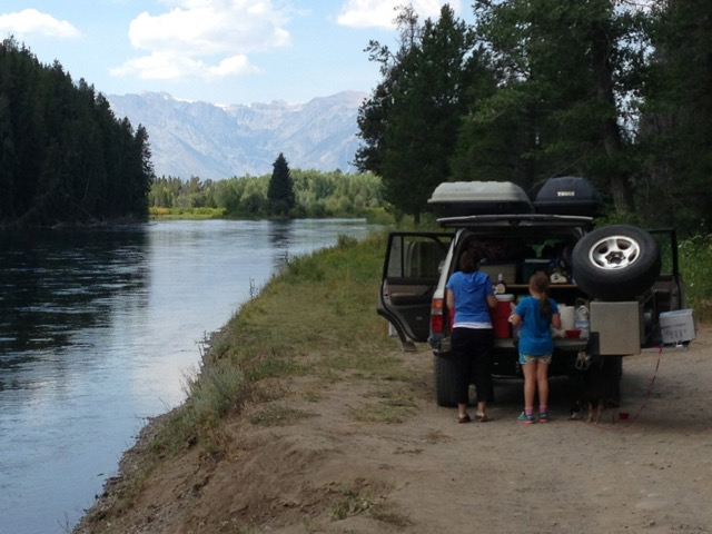 Oxbow Bend in Grant Teton National Park is our family's favorite spot on the planet!  Our 1996 FZJ80 LandCruiser has nearly 300K miles on the odometer, a generator and kitchen on the back and can go 4-wheeling just about anywhere.