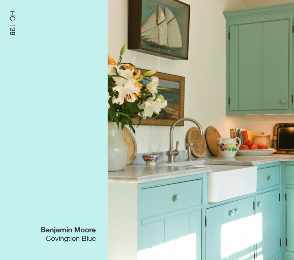 Covington Blue Hc 138 Benjamin Moore: Gary McBournie Inc. , Residential
