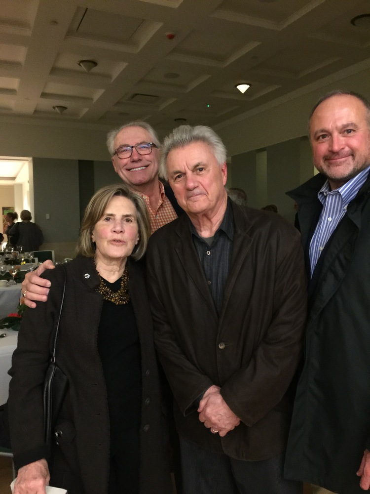 Mary Moss Greenebaum, Gary McBournie, John Irving and me at the conclusion of the evening.