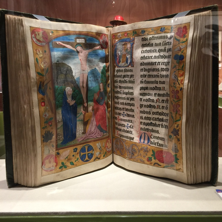 One could not help but be impressed with this illuminated manuscript on parchment from Les Enluminures.