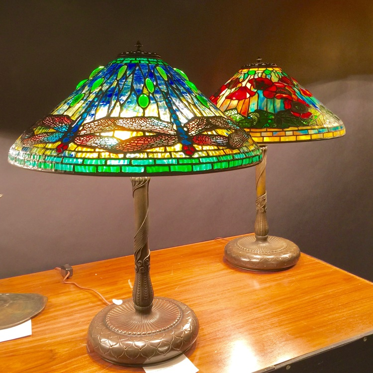 """The Dragonfly"" lamp by Tiffany Studios, circa 1910."